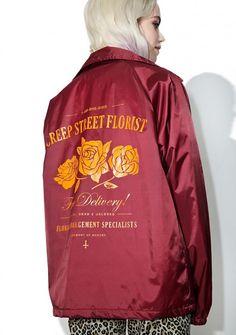 Creep Street Redd Creepy Florist Coaches Jacket
