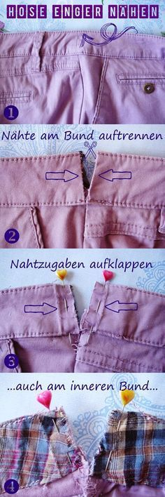 """Petozi-Design: TUTORIAL """"Hose enger nähen"""" Sewing Basics, Sewing For Beginners, Sewing Hacks, Sewing Tutorials, Tutorial Sewing, Sewing Projects, Sewing Clothes, Diy Clothes, Knitting Patterns"""