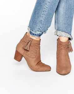 New Look Woven Tassel Boot