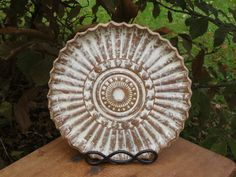 Ceramics and Pottery Cake Plate Handmade Pottery Stoneware Serving Plate (0213001)