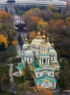 The Holy Ascension Cathedral or Zenkov Cathedral Almaty, Kazakhstan (Central Asia) goo.gl/lqCJrM from Maxim Zolotukhin Photo Places Around The World, Oh The Places You'll Go, Places To Travel, Places To Visit, Around The Worlds, Beautiful Buildings, Beautiful Places, Laos, Bósnia E Herzegovina
