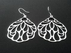 Oriental Fan Drop EarringsDangle Earrings by LaLaCrystal on Etsy, $20.00