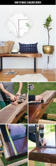 DIY live edge bench tutorial (drool)