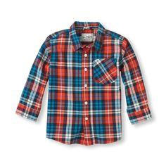 plaid shirt (Children's Place 6m-5T)