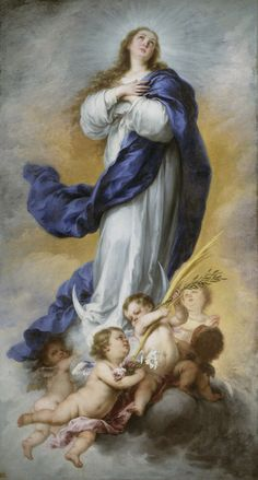 Blessed Mother Mary, Blessed Virgin Mary, Catholic Art, Religious Art, Immaculée Conception, The Immaculate Conception, Esteban Murillo, Mama Mary, Religious Pictures