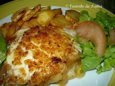 O Cantinho da Sophia: Supremas de Bacalhau no forno com crosta de maionese e broa
