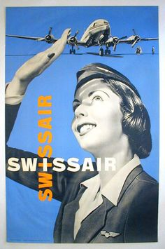 Swiss Air (1960): Gorgeous example of pure Swiss modernism, clean design and beautiful use of color. The play on the logotype forming a Swiss cross at its intersection is also clever.