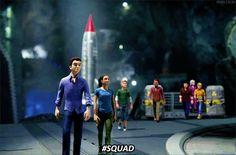 #SQUAD. Thunderbirds Are Go, Miraculous Ladybug, Puppets, Science Fiction, Squad, Movie Tv, Harry Potter, Nerd, Fandoms