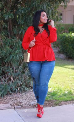 Plus size Valentine's day outfit idea