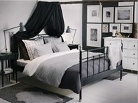 the curtain over the bed! not exactly like that but you could do something similar and then have a fort every night!! Bedroom Furniture - Beds, Mattresses & Inspiration - IKEA