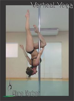 Pole Picture of the Day: Aline K. Vertical Yoga. Inverted Eva Stand Parallel. Photography by: Lilian Kerber. #BKPPOD #VerticalYoga  Submit your photos here: www.badkitty.com/submit