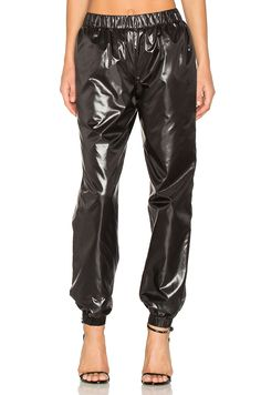 Kenzo Light Shiny Pants in Black
