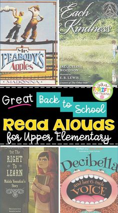 Great back to school read alouds for upper elementary that will help build community in your classroom, and help set the year's expectations from the very first week of school. #backtoschool #readalouds #readaloudsfifthgrade