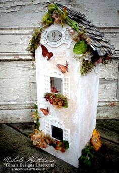 Tall garden Cottage with Tutorial - Nichola Battilana