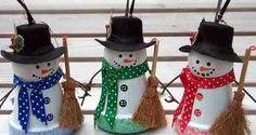 Flower pot Snowmen