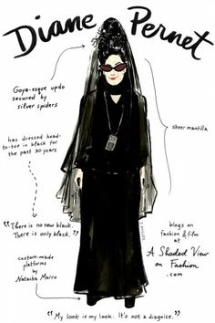 Diane Pernet and other fashion icons get the doodle treatment from amazing illustrator Joana Avillez