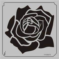 19-00015 Rose Flower Stencil