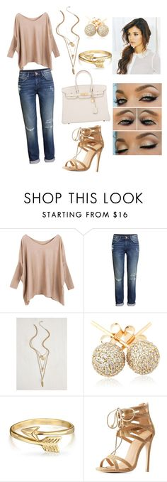 """""""Untitled #3"""" by lvxox ❤ liked on Polyvore featuring H&M, Loushelou, Bling Jewelry, Charlotte Russe and Hermès"""