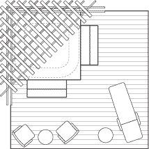 Spa Pergola Layout – Spa terrace layout with wooden pergola … Back Gardens, Outdoor Gardens, Hot Tub Surround, Planter Beds, Wooden Pergola, Pergola Plans, Concrete Floors, Play Houses, Landscape Design