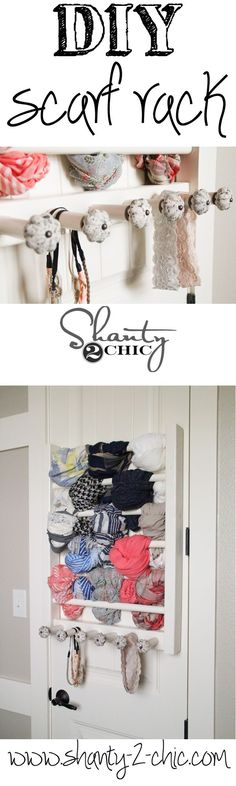 Easy DIY Scarf Rack! Minimal tools and only $15 in lumber!