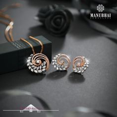 Gold Bangles Design, Gold Earrings Designs, Necklace Designs, Jewelry Design, Pendant Set, Diamond Pendant, Diamond Studs, Gold Pendant, Pendant Jewelry