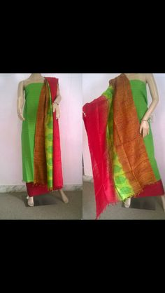 Cotton with Tussar dupatta