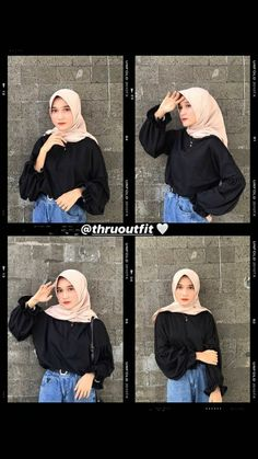 Modest Fashion Hijab, Casual Hijab Outfit, Ootd Hijab, Hijab Chic, Muslim Fashion, Workwear Fashion, Fashion Outfits, Style Hijab Simple, Head Scarf Styles