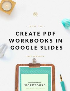 In this tutorial I will teach you to create PDF workbooks in Google Slides. It's super easy + no design software needed! Let's do this!