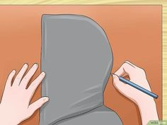 How to Make a Hood. Hoods are relatively easy to make even without the use of a pattern. Before you can make and attach the hood, though, you should determine which garment you wish to add the hood to. Hood Pattern Sewing, Dress Sewing Patterns, Sewing Patterns Free, Pattern Drafting, Free Sewing, Clothing Patterns, Robin, Mens Face Mask, Hoodie Pattern