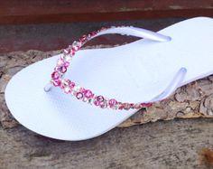 Glass Slippers w/ Swarovski Crystal AB gemstones Beach Wedding
