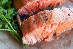 Hot-roasted salmon