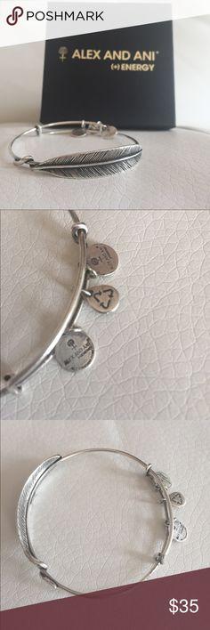Alex & Ani Silver Quill Feather Bracelet EUC- Worn a few times Alex & Ani Jewelry Bracelets