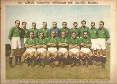 SELECCIÓN VASCA QUE QUEDO SUBCAMPEON DE LIGA EN MÉXICO,LLENA DE GRANDES ESTRELLAS ENTRE ELLOS LUIS REGUEIRO, ISIDRO LANGARA, ETC. 1939