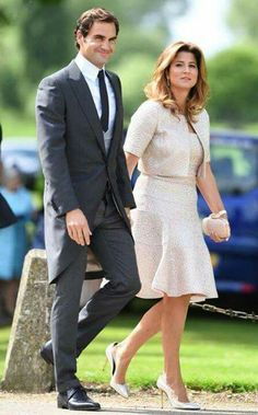 Pippa Middleton's wedding to James Matthews in pictures: All the celebrities and royal guests including Kate Middleton and Roger Federer Pippa Middleton Honeymoon, Pippa Middleton Wedding, Kate Middleton, Mirka Federer, Pippas Wedding, Wedding Dress, Pippa And James, James Matthews, Tennis Stars