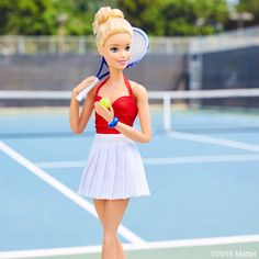 Sporting my tennis red, whites and blue! #barbie #barbiestyle