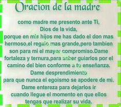 Oración de uma madre