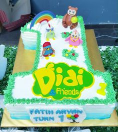 Cake no 1 theme didi and friends Friends Birthday Cake, Friends Cake, 3rd Birthday, Birthday Ideas, Birthday Parties, Cool Themes, Nursery Rhymes, Themed Cakes, Beautiful Cakes