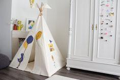 Teepee tent MIDI size BirdBalloons by MoozleTeepee on Etsy
