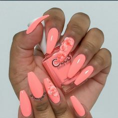 Coral Coffin Nails #slimmingbodyshapers To create the perfect overall style…
