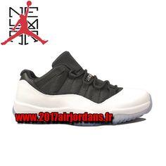 Air Jordan 11 (XI) Low – Blanc / Noir – Vrai Rouge 528895-