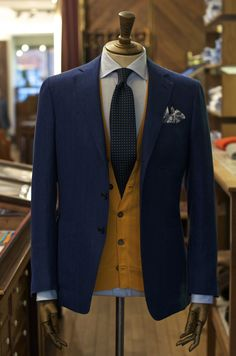 drakes-london: Sleeveless Cashmere Cardigan, Knitted in The Borders