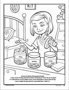 i choose the right by living gospel principles lds the friend magazine coloring page - Choose The Right Coloring Page