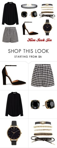 """BTS ""Blood Sweat and Tears"""" by smilikira ❤ liked on Polyvore featuring Gianvito Rossi, Emma Cook, Uniqlo, Tory Burch, Olivia Burton, Charlotte Russe, LULUS, outfit, Dark and bts"