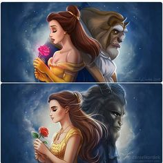 Beauty and the Beast on Disney-Fusion - DeviantArt Disney Animation, Disney Pixar, Fera Disney, Disney Nerd, Disney Cartoons, Disney Movies, Punk Disney, Animation Movies, Disney Facts