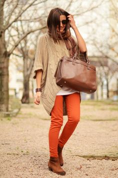 Mango skinnies from zara. Love the sweater and the Armani shades, too