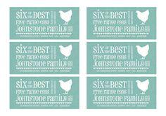 A4 size PDF version of half dozen egg carton by DesignSpongeStudio, $8.00