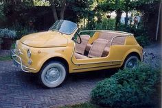 New Cute Cars Vintage Fiat 500 53 Ideas Cars Vintage, Retro Cars, Antique Cars, Vintage Jeep, Retro Vintage, Maserati, Ferrari 458, Audi, Volkswagen