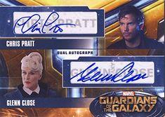 2014 Guardians of the Galaxy Trading Card Set Dual Autograph Glenn Close and Chris Pratt @ niftywarehouse.com #NiftyWarehouse #GuardiansOfTheGalaxy #Marvel #Movies #ComicBooks #Comics #MarvelMovies