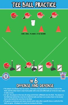 Offense and Defense | T-Ball Practice |