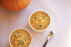 Spicy Chipotle and Cheddar Pumpkin Soup